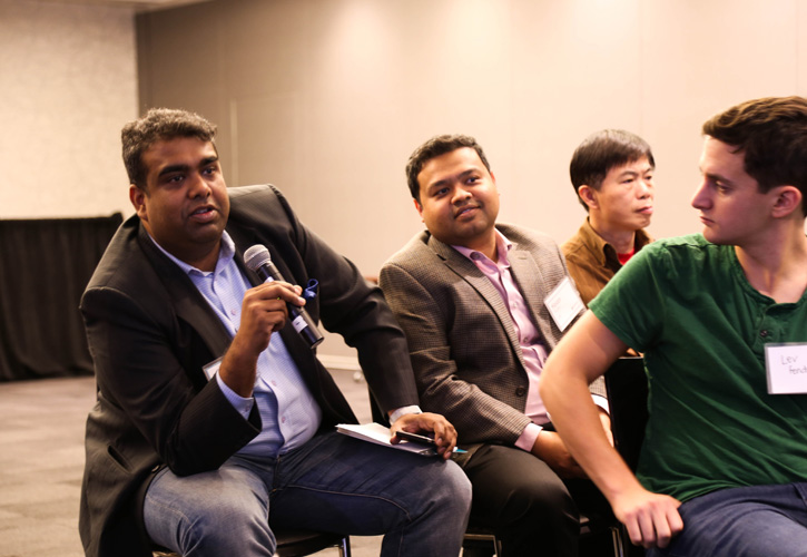 The Q&A session at Customer Happiness Tour Toronto, October 2015.
